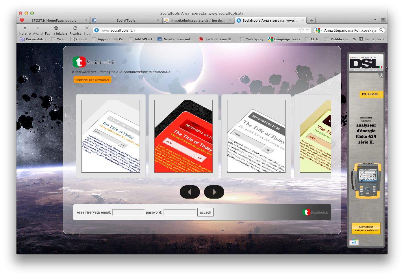 Site networking migliaia di siti connessi tra loro