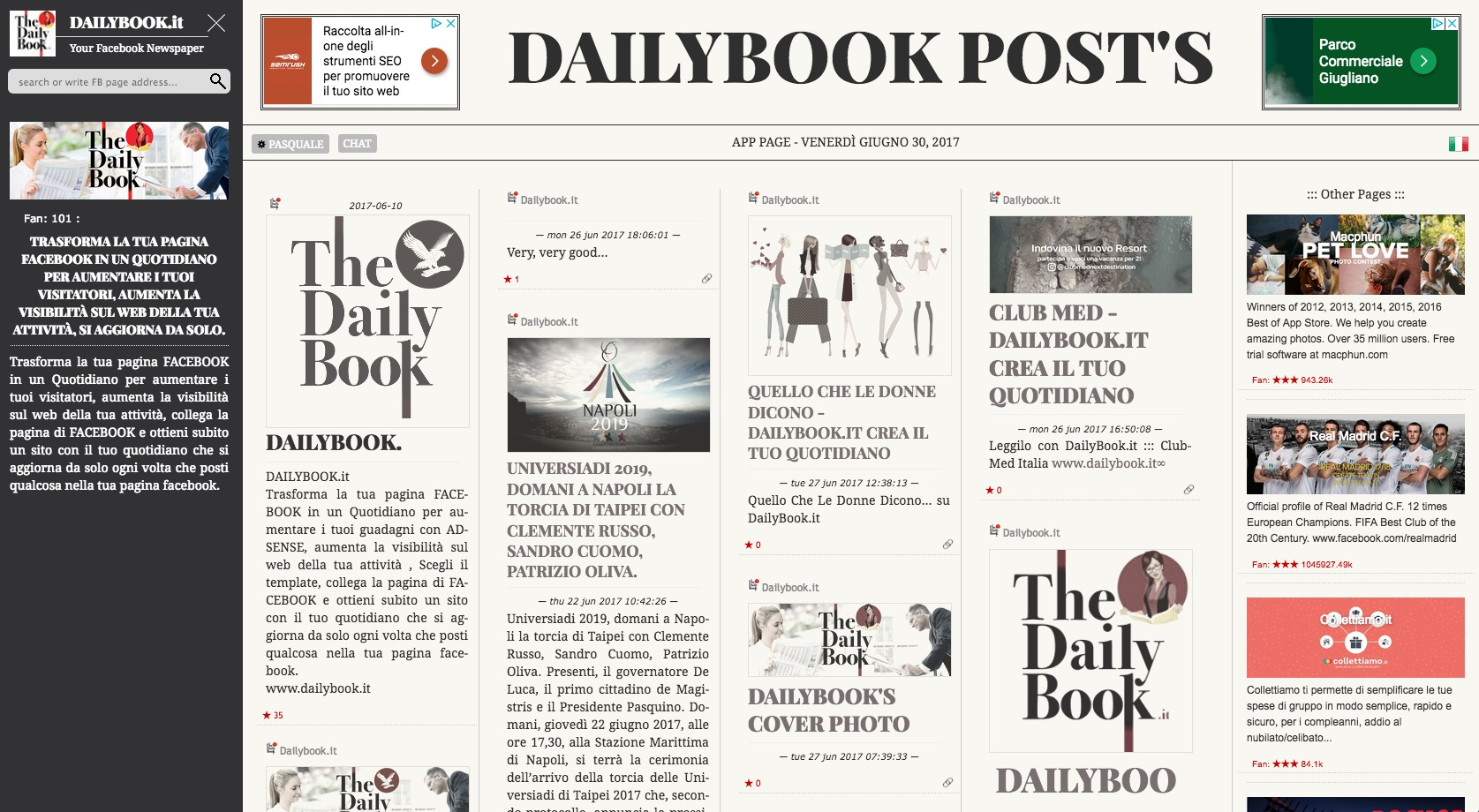 Trasforma Facebook in un Quotidiano con DailyBook