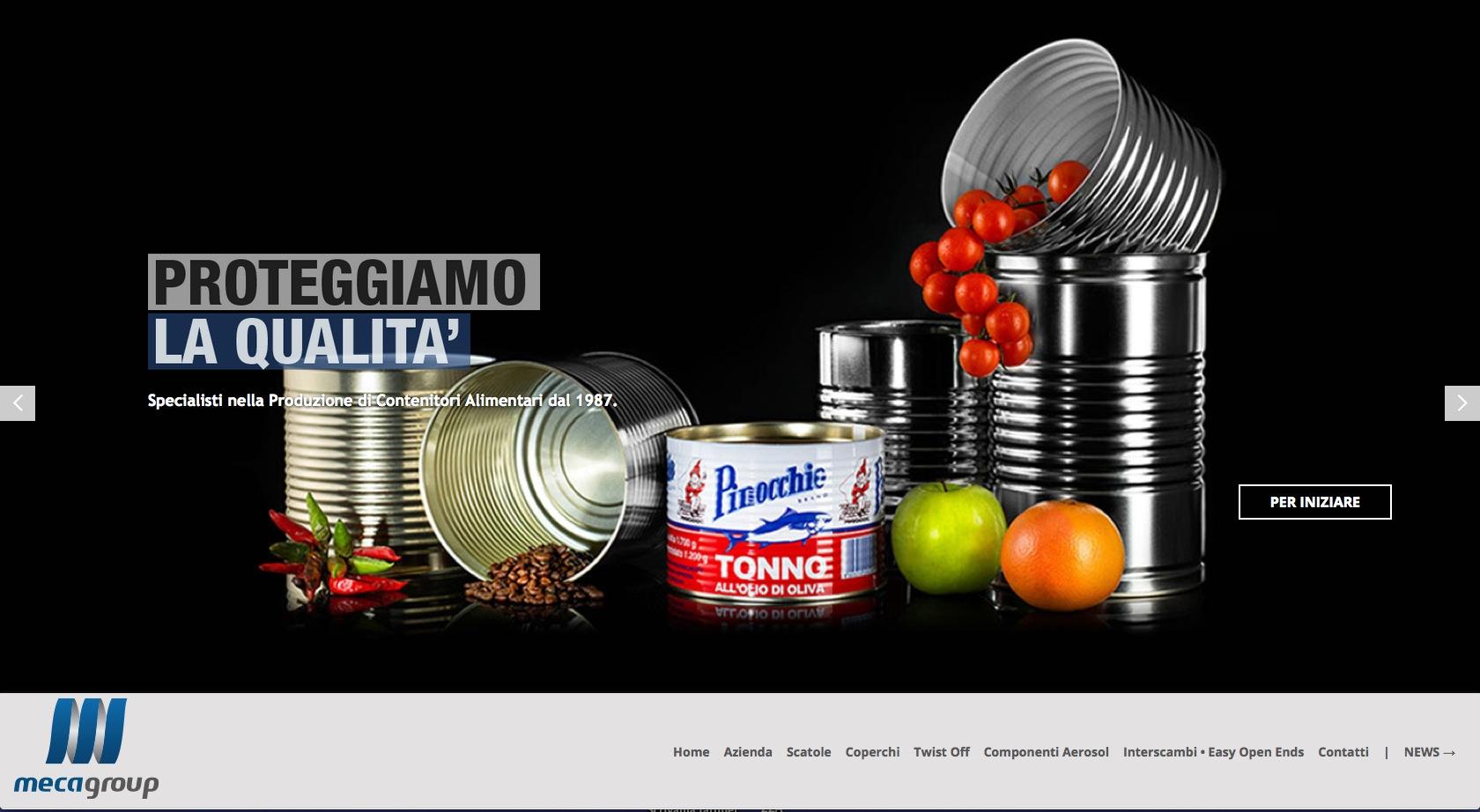 Contenitori Metallici per Alimenti MecaGroup lavorazione Banda Stagnata Packaging industry