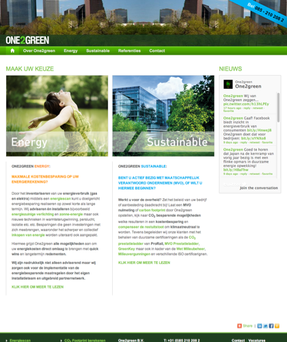 One2green B.v.  - Specialisten In Energiebesparing En Duurzaamheid