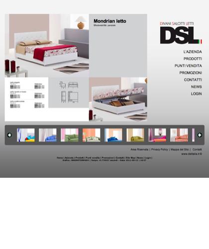 Mondrian - Divani Salotti Letti - Dsl - Quality Has A Name - Dsl Italia - Mondrian Letto Sfoderabilità: Parziale