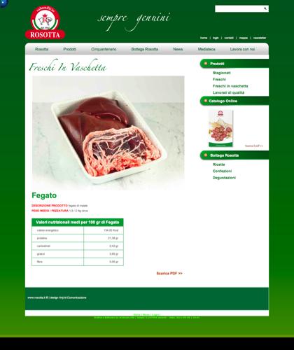 Freschi In Vaschetta - Fegato - Rosotta - Rosotta Salumificio Dal 1962