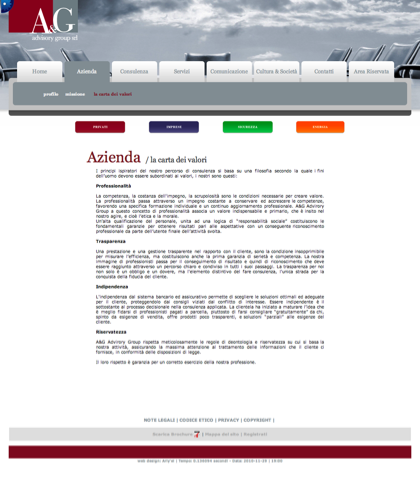 A&g Advisory Group Srl  - La Carta Dei Valori - A & G - A&g Advisory Group, Azienda, Servizi, Consulenza, Comunicazione, Cultura & Società, Privati, Imprese, Sicurezza, Energia