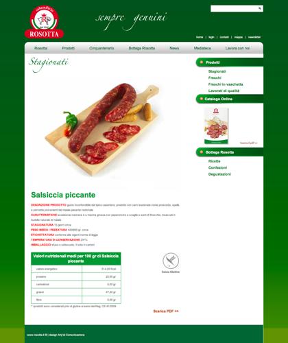 Stagionati - Salsiccia Nostrana - Rosotta - Rosotta Salumificio Dal 1962
