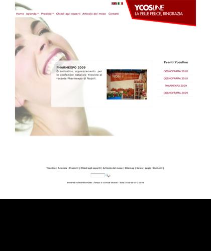 Pharmexpo 2009 - Ycosline - Azienda Che Produce Cosmetici E Prodotti Di Bellezza Per La Pelle. Ycosline Antirughe Fitoendorfine Idratanti Farmacia
