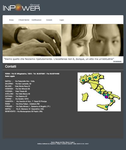 Contatti - Inpower Group - Inpowergroup, Consorzio, Telecomunicazioni, Impianti, Fotovoltaico, Energia Solare, Banda Larga, Software, Roma, Napoli, Milano