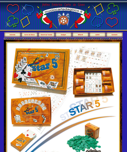 Star 5 - Muoiocartedagioco - Muoio Carte Da Gioco -  Carte Plastificate - Carte Regionali - Carte Personalizzate - Giochi Di Società - Dadi Fichese Astucci