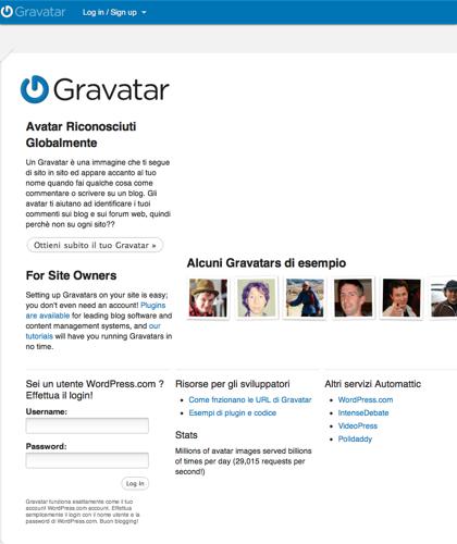 Gravatar - Avatar Riconosciuti Globalmente
