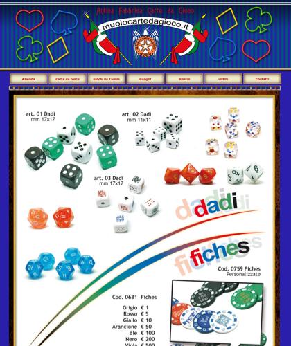 Dadi & Fiches - Muoiocartedagioco - Muoio Carte Da Gioco -  Carte Plastificate - Carte Regionali - Carte Personalizzate - Giochi Di Societ� - Dadi Fichese Astucci