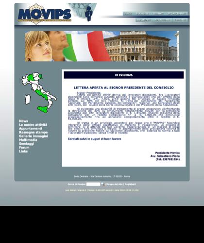 Lettera Aperta Al Signor Presidente Del Consiglio - Movips - Movimento Ideale Di Partecipazione Sociale