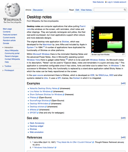 Desktop Notes - Wikipedia