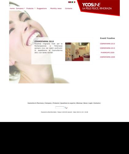 Cosmofarma 2010 - Ycosline - Azienda Che Produce Cosmetici E Prodotti Di Bellezza Per La Pelle. Ycosline Antirughe Fitoendorfine Idratanti Farmacia
