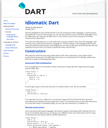 Idiomatic Dart | Dart: Structured Web Apps