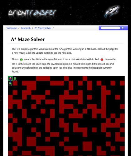 A* Maze Solver - Programming Dojo