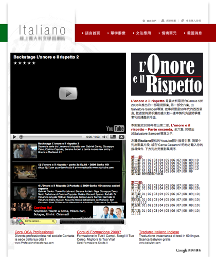 L´onore E Il Rispetto - 西西里黑手黨盛衰記錄 - Italiano -