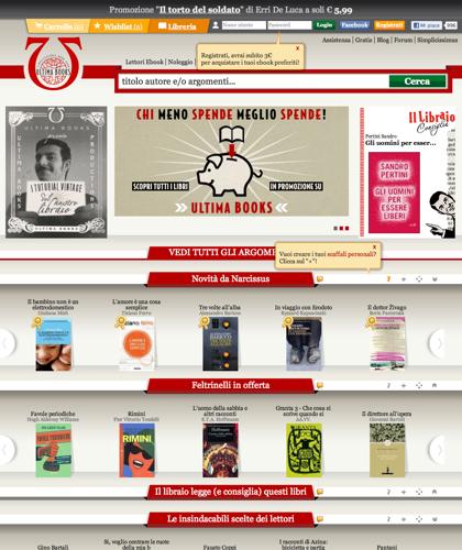 Ultima Books - Libreria Online Epub | Pdf | Mobi Kindle | Noleggio - Ebook Italiani - Lettori Ebook