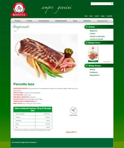 Stagionati - Pancetta Bacon - Rosotta - Rosotta Salumificio Dal 1962