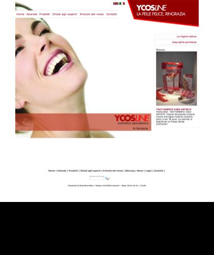 Cosmetici Pelle Viso Corpo Ycosline  - Sfe - Azienda Che Produce Cosmetici E Prodotti Di Bellezza Per La Pelle. Ycosline Antirughe Fitoendorfine Idratanti Farmacia