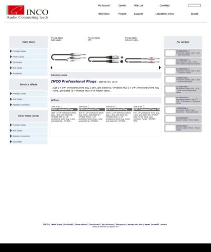 Cavi Audio - Strumentali - Microfonici - Casse - Bobine - Connettori - X-lead -  Inco - Store