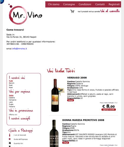 Contatti - Mr Vino -