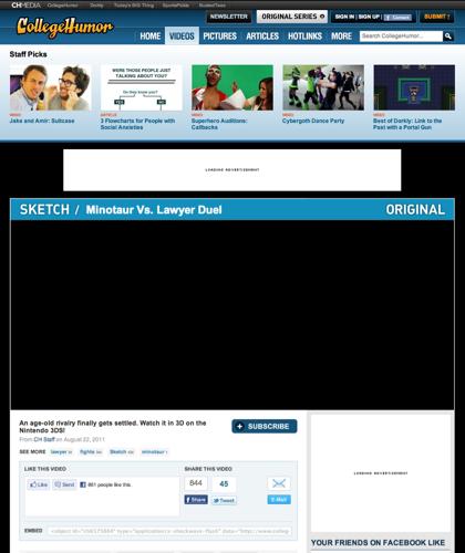 Minotaur Vs. Lawyer Duel - Collegehumor Video