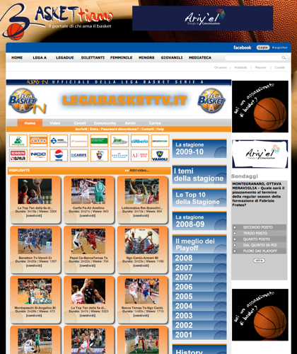 Baskettiamo Tv - Baskettiamo - Basket Ti Amo Pallacanestro. Basketball. Legabasket. Campionato Italiano Basket. Eurolega. Fip. International Championship Basket Ball.