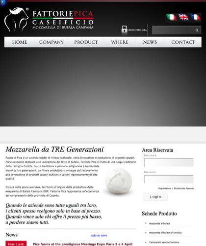 Fattorie Pica Italian Buffalo Mozzarella - Fattorie Pica - Mozzarella Di Bufala Campania