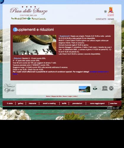 Supplementi E Riduzioni Copia - Hotel Relais Pian Delle Starze - 2011
