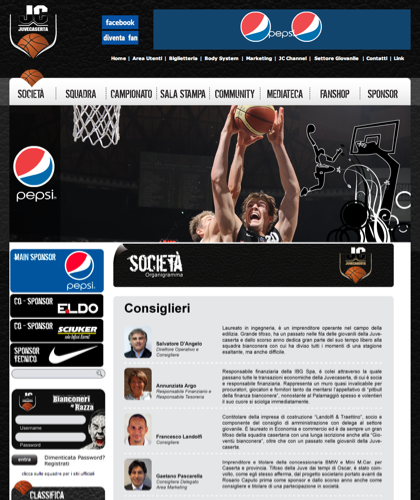 Consiglieri - Juvecaserta -  Basket Juventus Caserta Pallacanestro. Associazione Sportiva, Campionato Italiano Basket. International Championship Basket Ball.