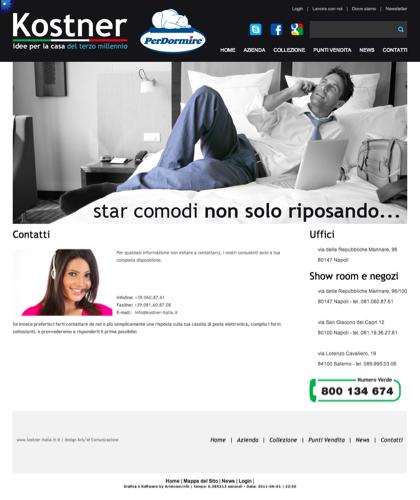 Contatti - Kostner Italia - Idee Per La Casa Del Terzo Millennio.