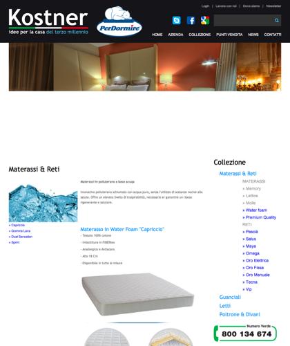 Materassi & Reti - Water Foam Capriccio - Kostner Italia - Idee Per La Casa Del Terzo Millennio.