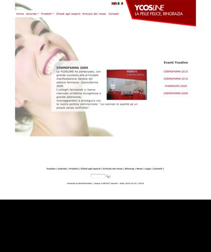 Cosmofarma 2009 - Ycosline - Azienda Che Produce Cosmetici E Prodotti Di Bellezza Per La Pelle. Ycosline Antirughe Fitoendorfine Idratanti Farmacia