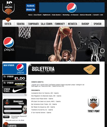 Biglietteria - Juvecaserta -  Basket Juventus Caserta Pallacanestro. Associazione Sportiva, Campionato Italiano Basket. International Championship Basket Ball.