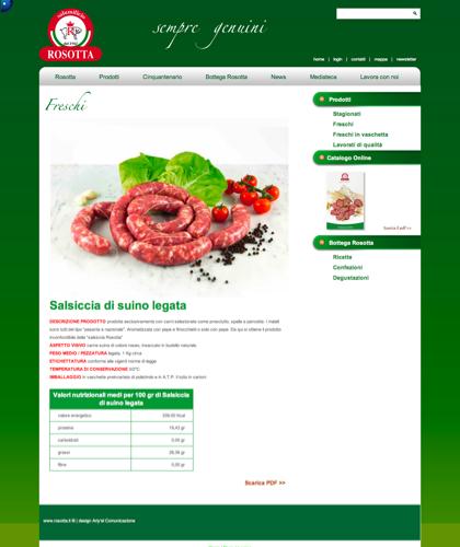 Freschi - Salsiccia Di Suino Legata - Rosotta - Rosotta Salumificio Dal 1962