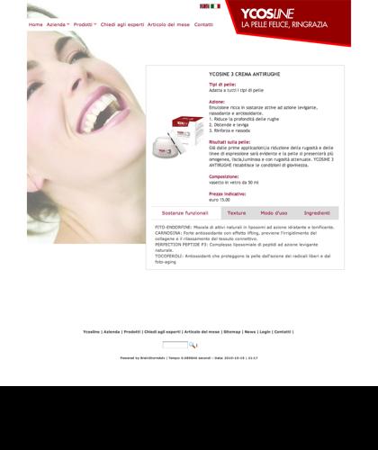 Ycosline Prodotti Viso Ycosine 3 Crema Antirughe - Ycosline - Azienda Che Produce Cosmetici E Prodotti Di Bellezza Per La Pelle. Ycosline Antirughe Fitoendorfine Idratanti Farmacia