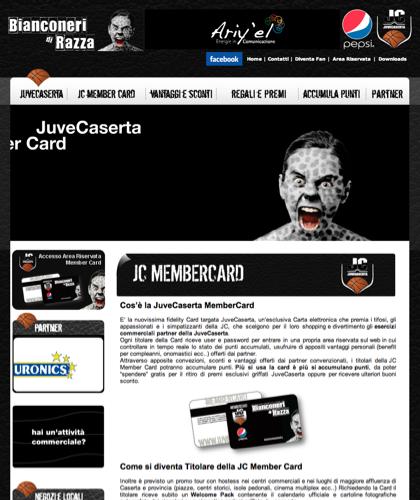 Jc Member Card - Juvecard - Basket, Pallacanestro. Associazione Sportiva, Campionato Italiano Basket. International Championship Basket Ball.