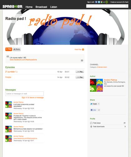 Radio Pad ! | Spreaker Online Radio