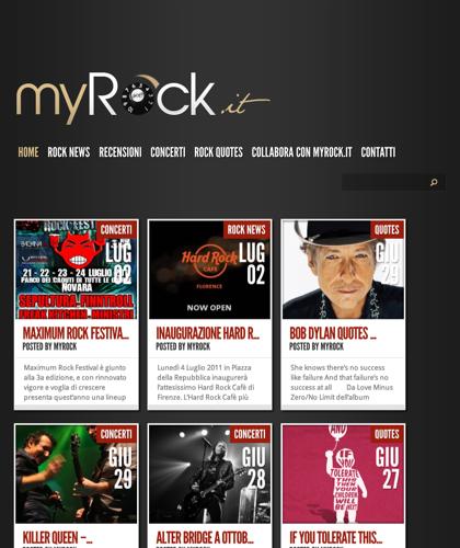 Blog Rock E Dintorni - Myrock
