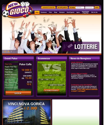 Newgioco - Scommesse Sportive, Casinò Games, Poker E Tanti Altri Giochi Online!