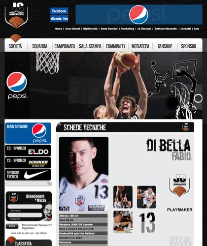 Di Bella Scheda - Juvecaserta -  Basket Juventus Caserta Pallacanestro. Associazione Sportiva, Campionato Italiano Basket. International Championship Basket Ball.