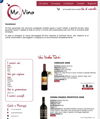 Condizioni - Mr Vino -