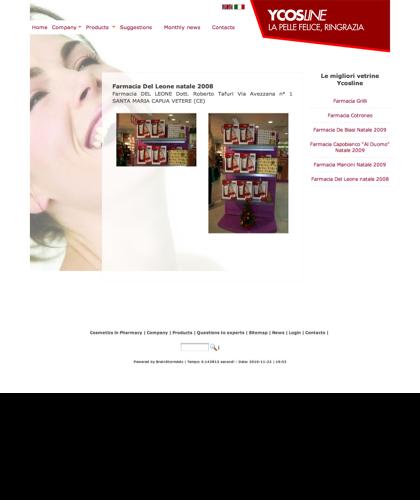 Ycosline Prodotti Viso - Farmacia Del Leone Natale 2008 - Ycosline - Azienda Che Produce Cosmetici E Prodotti Di Bellezza Per La Pelle. Ycosline Antirughe Fitoendorfine Idratanti Farmacia