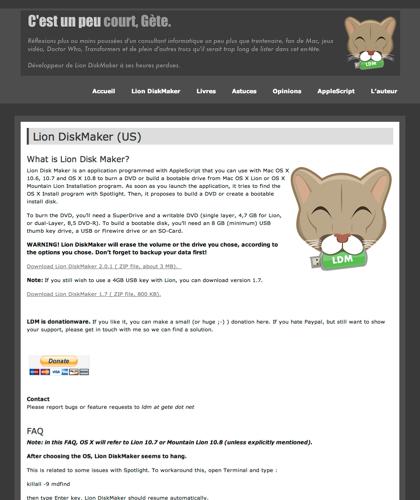 Lion Diskmaker (us) | C'est Un Peu Court, Gète.