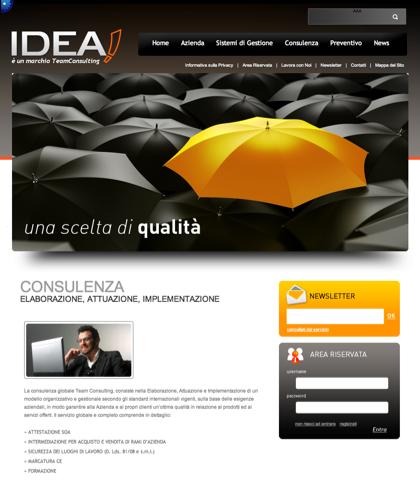 Consulenza - Idea Cert - � Un Marchio Teamconsulting