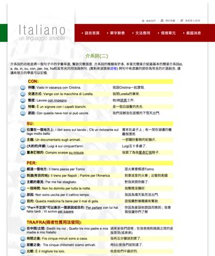 介系詞(二) - Le Preposizioni - Italiano -