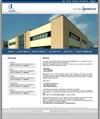 Azienda - Storia - Sacogen - Costruzioni Civili E Industriali Sacogen