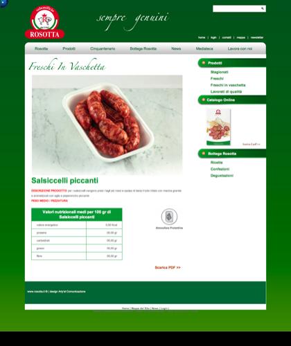 Freschi In Vaschetta - Salsiccelli Piccanti - Rosotta - Rosotta Salumificio Dal 1962
