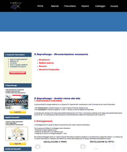 Il Sopralluogo - Finpower Impianti - Strumentazione Necessaria, Analisi Visiva Del Sito, Analisi Della Documentazione