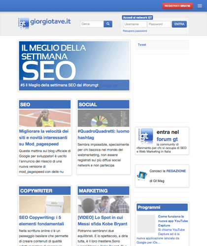 Giorgiotave: Tutto Gratis Per Seo, Social Network E Web Marketing