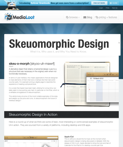 Skeuomorphic Design: What It Is, Who Uses It, And Why You Need To Know : Medialoot